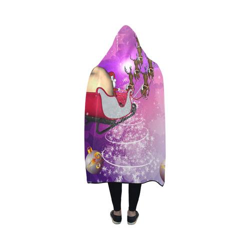 Santa Claus is coming Hooded Blanket 50''x40''