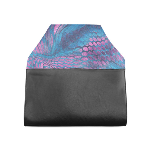 crazy midnight blue - purple snake scales animal skin design camouflage Clutch Bag (Model 1630)