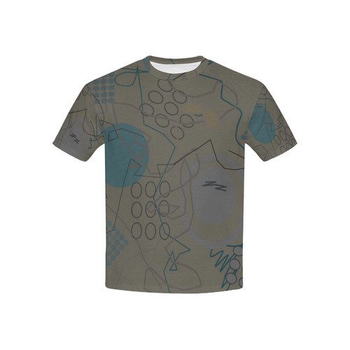 Abstract 8 brown Kids' All Over Print T-shirt (USA Size) (Model T40)