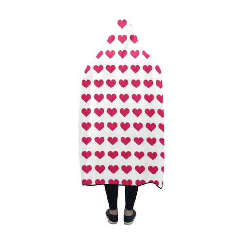 sweet allover hearts A Hooded Blanket 60''x50''