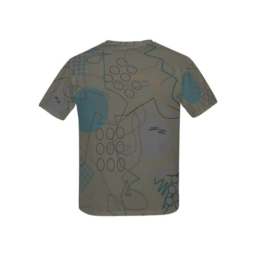 Abstract 8 brown All Over Print T-shirt for Kid (USA Size) (Model T40)