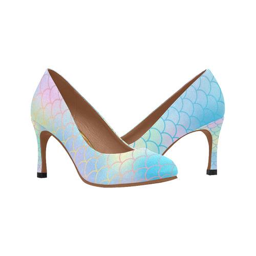 385e3dff681 mermaid ladies pump heels Women's High Heels (Model 048)