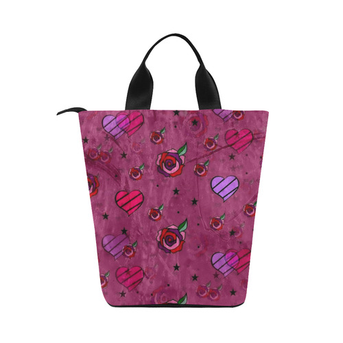 Dream of Rose by Popart Lover Nylon Lunch Tote Bag (Model 1670)