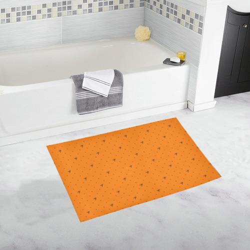 CHOC ORANGE FLIES Bath Rug 20''x 32''