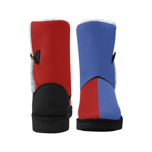 Only two Colors: Blue - Red Unisex Single Button Snow Boots (Model 051)