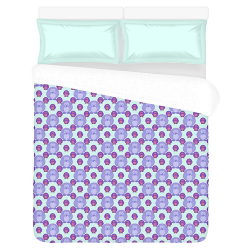 HOT AND COLD PENGUINS 3-Piece Bedding Set