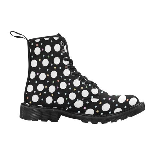 POINTS BLACKY 4 WOMEN Martin Boots for Women (Black) (Model 1203H)