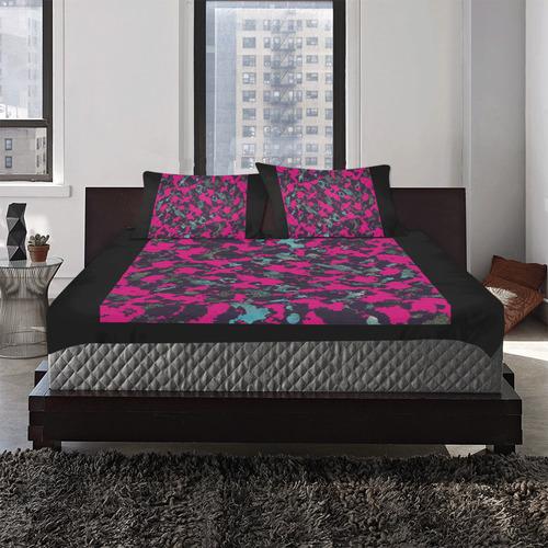 CAMOUFLAGE BLACKBERRY 3-Piece Bedding Set