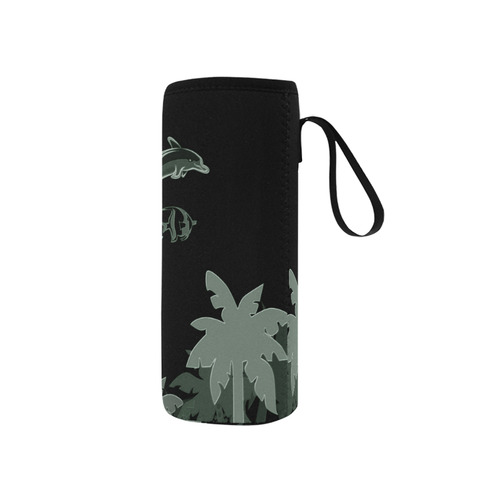 Playing dolphin Neoprene Water Bottle Pouch/Small