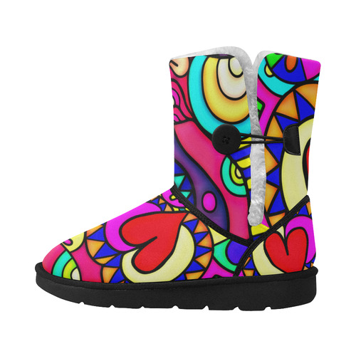 Looking for Love Unisex Single Button Snow Boots (Model 051)