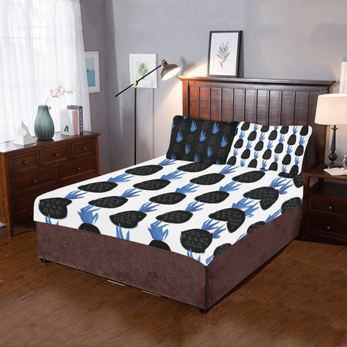 Pinneaples 3-Piece Bedding Set