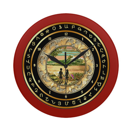 Children of Armenia Circular Plastic Wall clock