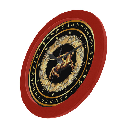 David of Sassoun Circular Plastic Wall clock