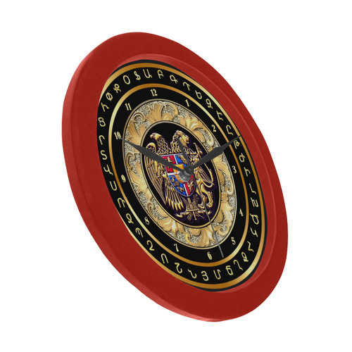 Coat of arms of Armenia Circular Plastic Wall clock