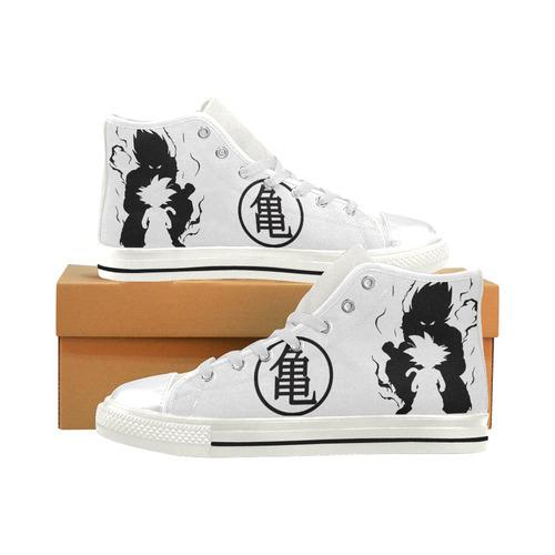 Kame-sennin_mark svg Men's Classic High Top Canvas Shoes (Model 017)
