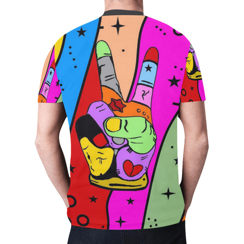 Peace Popart by Nico Bielow New All Over Print T-shirt for Men (Model T45)