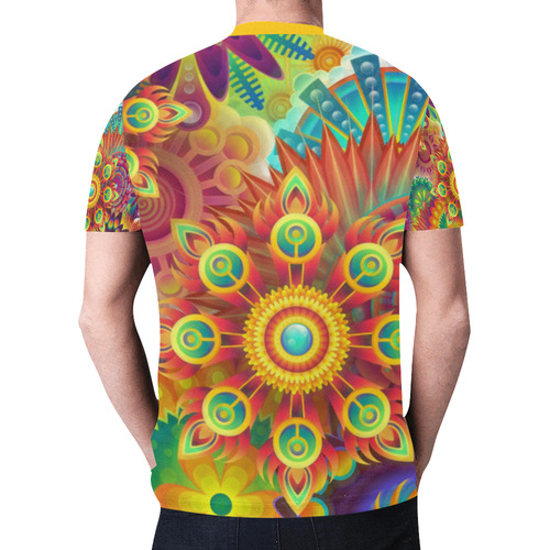 Psychedelic Mandalas New All Over Print T-shirt for Men (Model T45)
