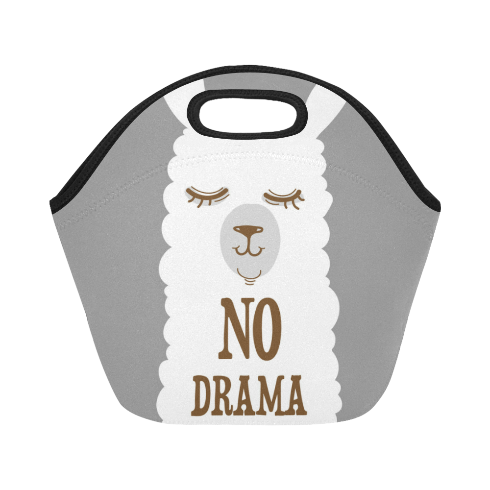 9b666a82dca2 Details about Custom Neoprene Little White Llama Lunch Bags Insulated  Picnic Lunch Tote Bag