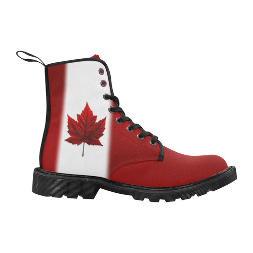 Canada Flag Boots Women's Martin Boots for Women (Black) (Model 1203H)