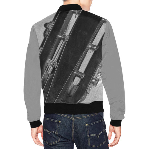 Guitar Head All Over Print Bomber Jacket for Men (Model H19)