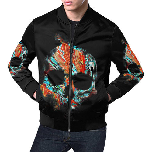 Skull-Unusual and unique 06A by JamColors All Over Print Bomber Jacket for Men (Model H19)