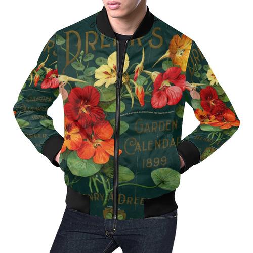 Take a Break All Over Print Bomber Jacket for Men (Model H19)