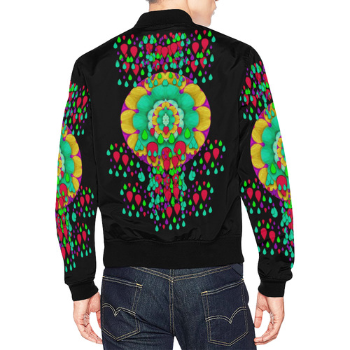 Rain meets sun in soul and mind All Over Print Bomber Jacket for Men (Model H19)