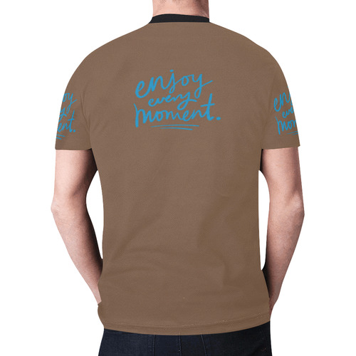 Mens T-shirt Brown Enjoy Every Moment New All Over Print T-shirt for Men (Model T45)