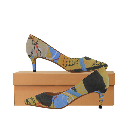 Just Above the Line Women's Pointed Toe Low Heel Pumps (Model 053)