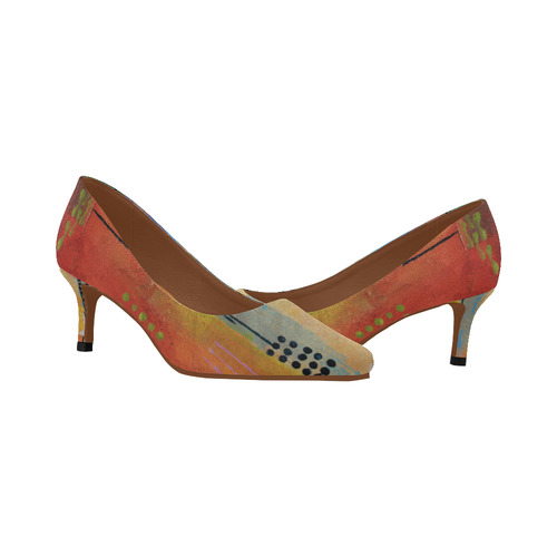 Sunset Park Women's Pointed Toe Low Heel Pumps (Model 053)