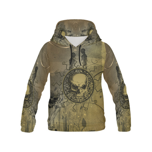 Amazing skull with skeletons All Over Print Hoodie for Men/Large Size (USA Size) (Model H13)