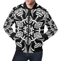 Jacket Occult Graphic White on Black Symbol Gothic Bomber Jacket