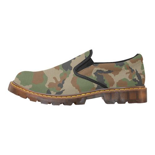 woodland camouflage pattern Martin Men's Slip-On Loafer (Model 12031)