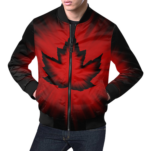 Cool Canada Bomber Jackets All Over Print Bomber Jacket for Men (Model H19)