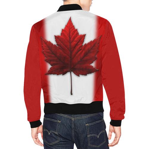 Canadian Flag Bomber Jacket - Men's All Over Print Bomber Jacket for Men (Model H19)