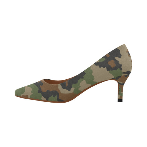 79b80f60a11a ... 053) woodland camouflage pattern Women s Pointed Toe Low Heel Pumps ( Model ...