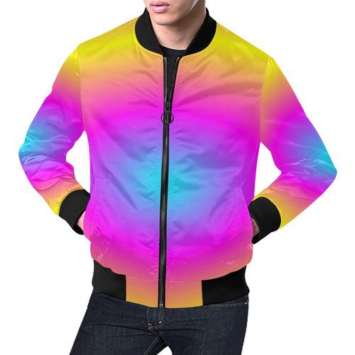 Pink Tiedye All Over Print Bomber Jacket for Men (Model H19)
