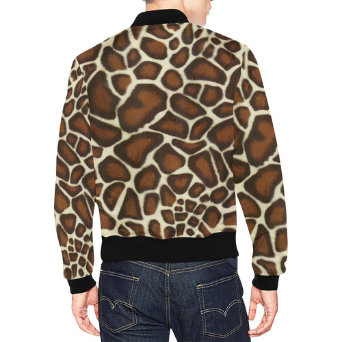 Giraffe Spots All Over Print Bomber Jacket for Men (Model H19)