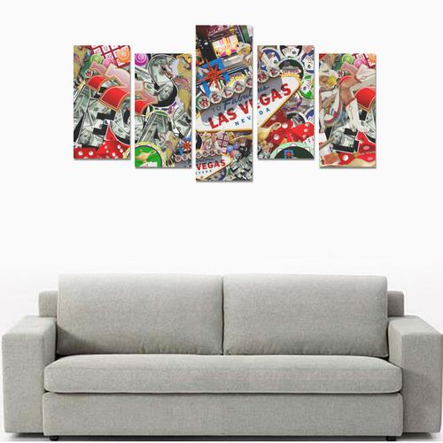 Las Vegas Icons - Gamblers Delight Canvas Print Sets E (No Frame)