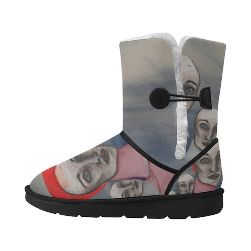One Unisex Single Button Snow Boots (Model 051)