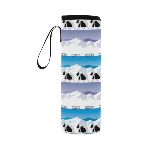 Keeshond Rockin the Rockies Neoprene Water Bottle Pouch/Large