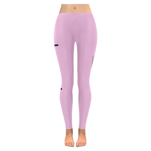 1d5cdd61f402e Womens Leggings Stretch Yoga Pants S, M, L, XL 2XL Brunch Breakfast Lunch  Pink Low Rise Leggings (Invisible Stitch) (Model L05) | ID: D2183326