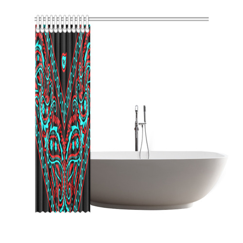 Blue And Red Bandana Shower Curtain