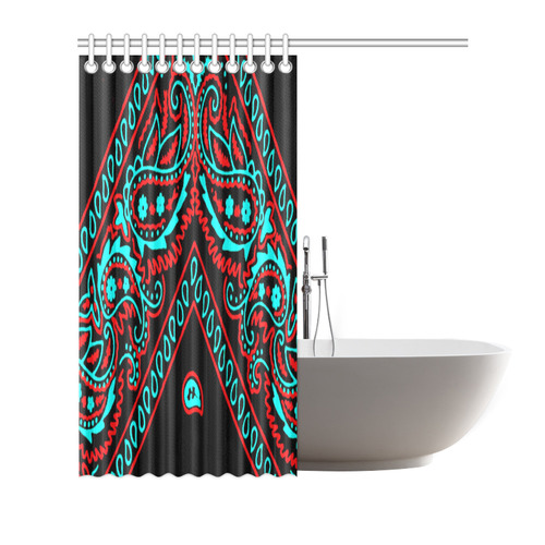 Blue And Red Bandana 2 Shower Curtain
