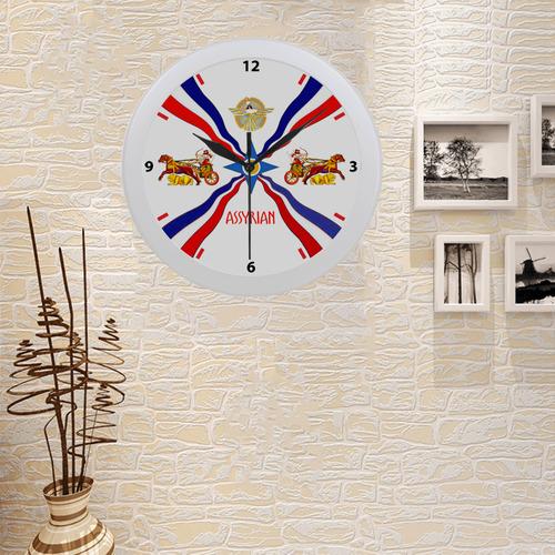 The Assyrian Wall Clock Circular Plastic Wall clock