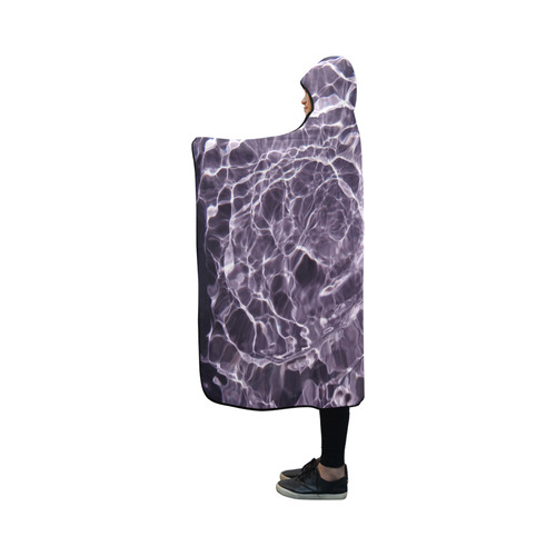 Violaceous soul Hooded Blanket 50''x40''