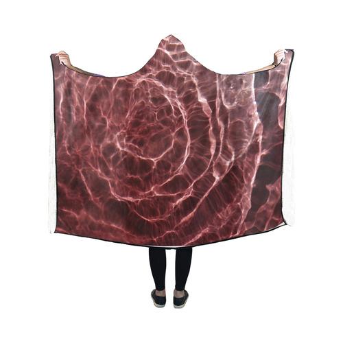 Dark Pink Ray Light Hooded Blanket 50''x40''