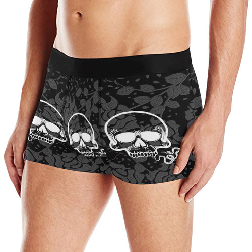 Damasc Skull with Snake by JamColors Men's All Over Print Boxer Briefs (Model L10)