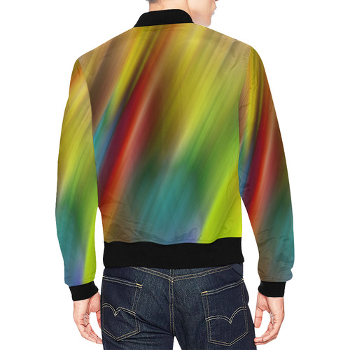 Colors Strips by Artdream All Over Print Bomber Jacket for Men (Model H19)