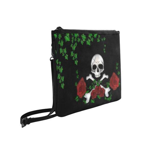 Skull Rose Slim Clutch Bag (Model 1668)